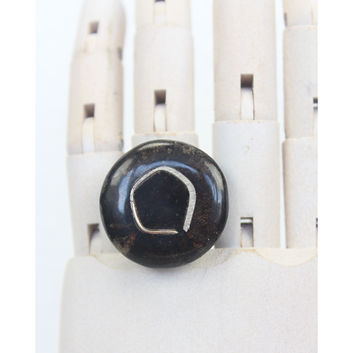 Eye of a Seed Round Ring - Black
