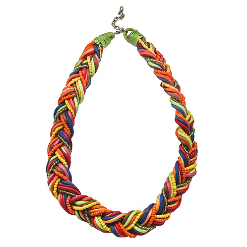 Tunis Braid Necklace - Colorful