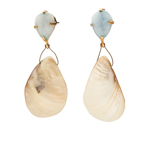 Melanie Drop Shell Earrings