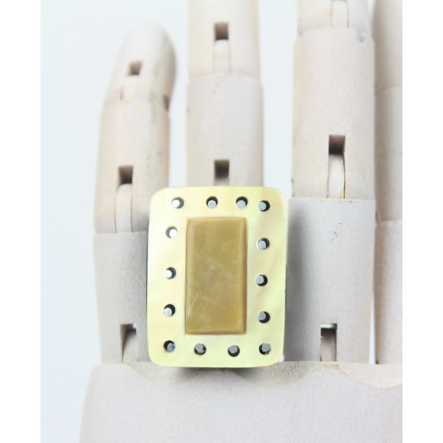 Ingrid Square Ring - Beige