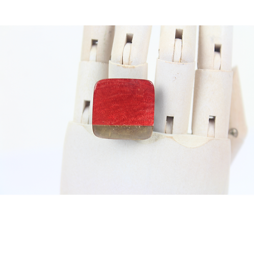 Samira Square Ring - Red