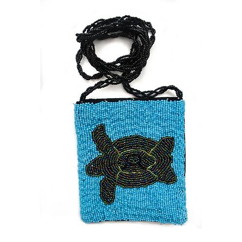 Beaded Crossbody Sling Bag - Turtle