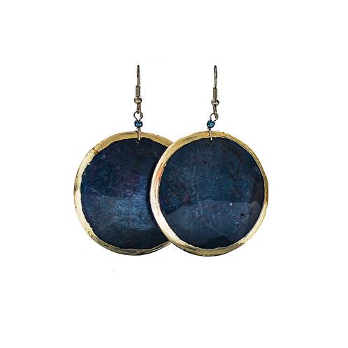 Deep Blue Moon Earrings