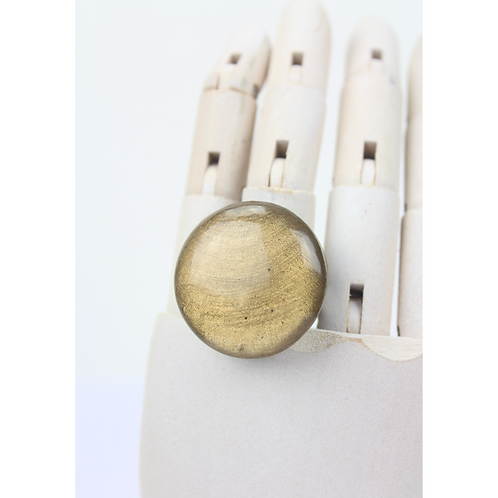 Moon Round Ring - Beige