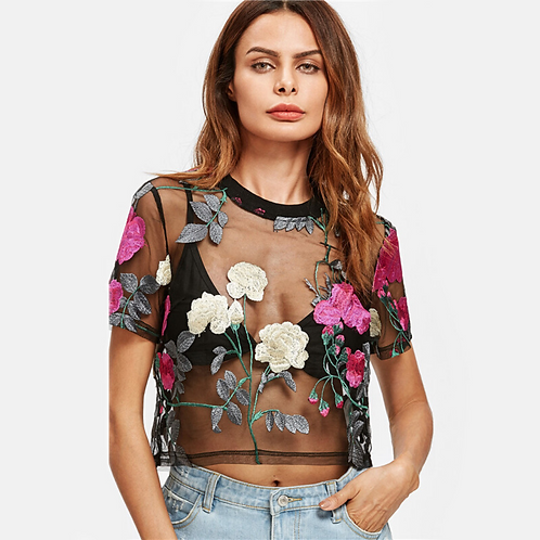Embroidered Boho Top - Colorful