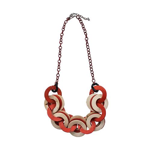 Orange Cocoloco Chain Necklace