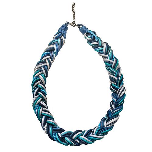 Tunis Braid Necklace - Blue