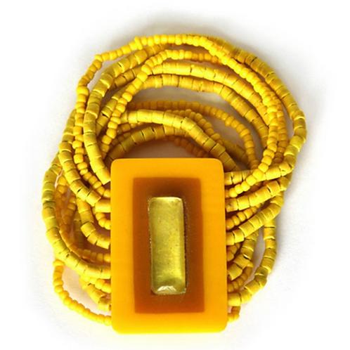 Happy Kids Charity Bracelet to help kids in need - Yellow