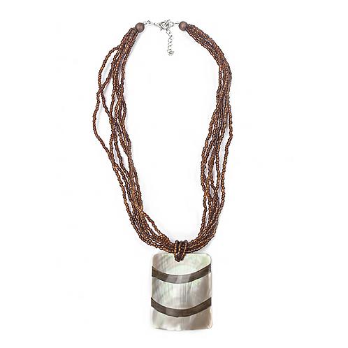 Bambooti Halskette - Braun