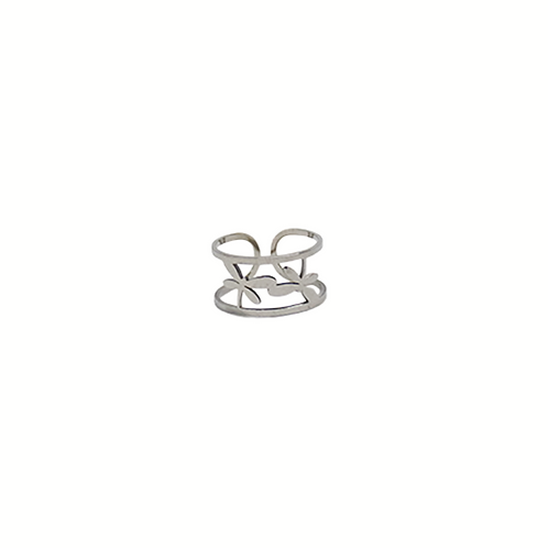 Moonlight Wanderer's Butterfly Ring - Silver