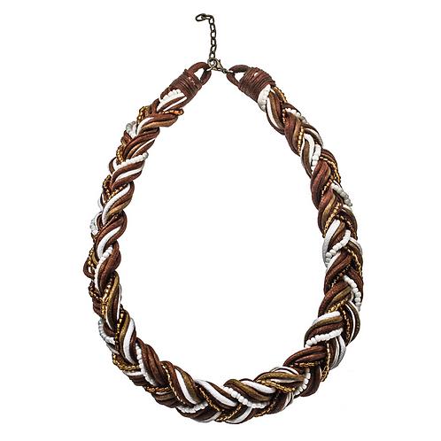 Tunis Braid Halskette - Braun