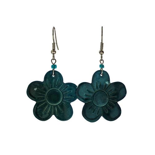 Flower Earrings - Black