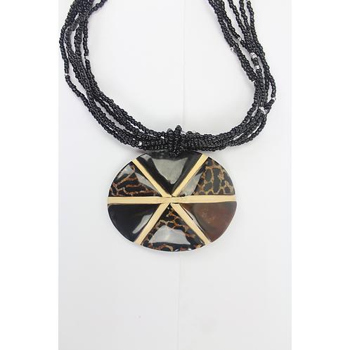 HoneyBee Halskette - Schwarz