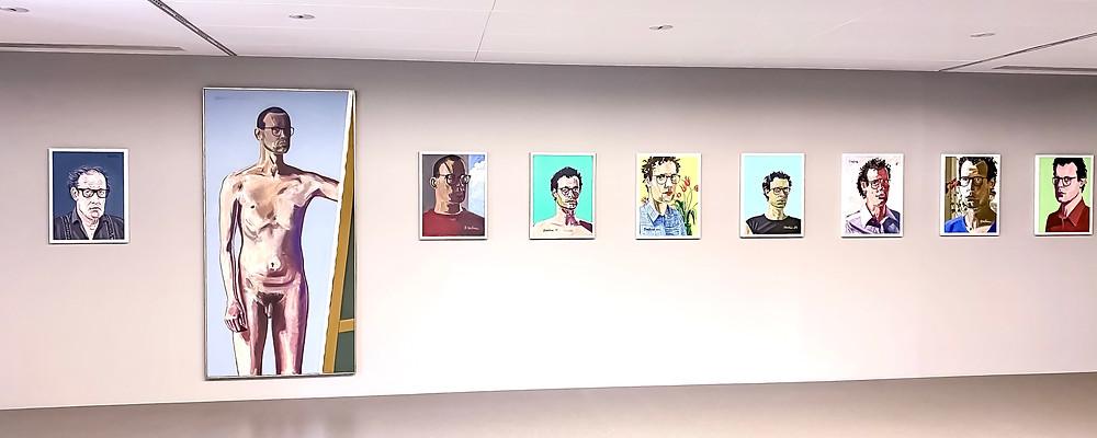 anton bruhin self portraits paintings photo