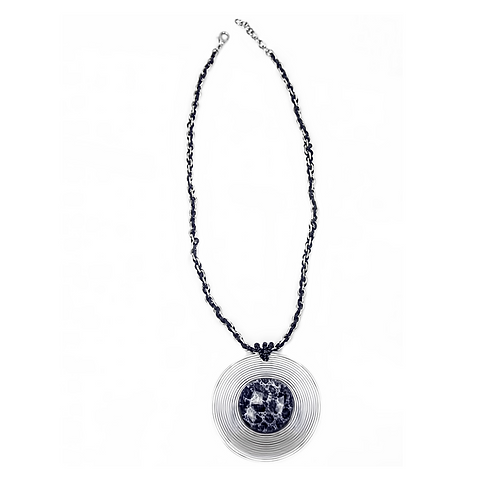 Round Urchini Necklace - Gray