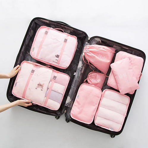 Travel accessories kit - pink