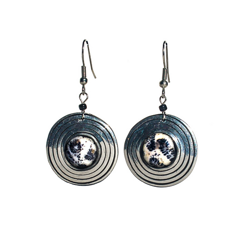 Round Creo Earrings - Silver