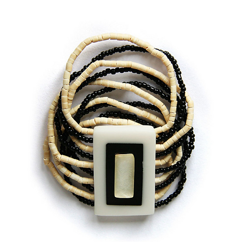 Education Charity Bracelet to help kids in need - Black and White