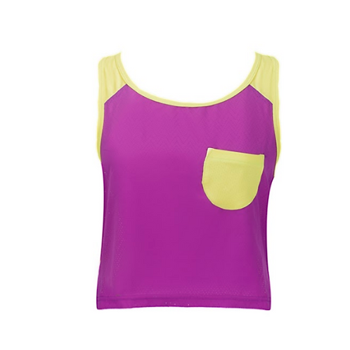 Daisy Cute Fitness Top - Violett