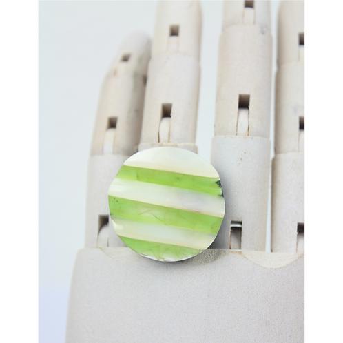 Eierschalen-Stufenring - Grün