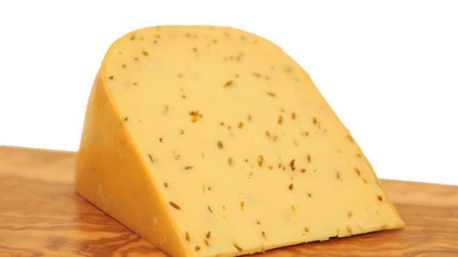Dutch Cumin Seed Cheese Gouda with Cumin Raw Milk Farmhouse Cheese Yellow Rind