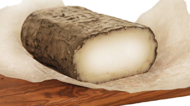 Soft Spanish Goat's Cheese Grey Ash Rind White Soft Goat Cheese White Paper