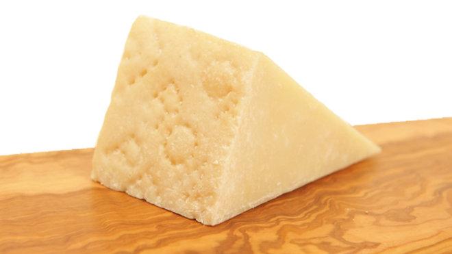 Hard Italian Sheep's Milk Ewe's Milk Cheese White Pecorino Imprinted Text on Rind Raw Sheep Milk Cheese