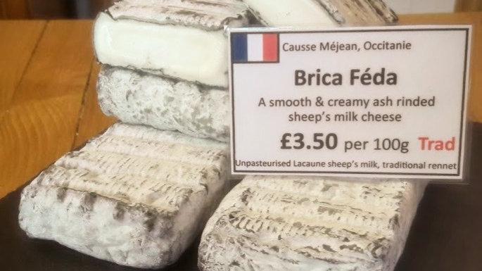 Brica Feda Soft Cheese Sheep's Milk Cheese Ewe's Milk Cheese Cut Cheese Raw Milk Unpasteurised Rinded cheese