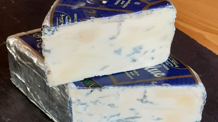 Garstang Blue Cheese Foil Wrapped Blue Label Smelly Cheese Soft Blue Cheese