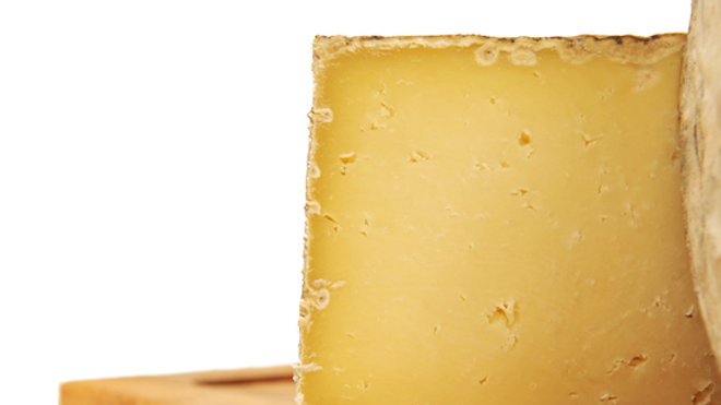 Traditional English Yorkshire Swaledale Cheese Yellow Cheese with Natural Rind
