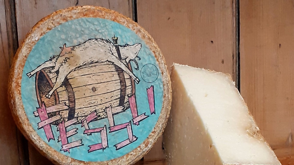 Fessli Little Barrel Hard Swiss Cheese Goat's Milk Cheese Cut Cheese Raw Milk Unpasteurised Brown Rind