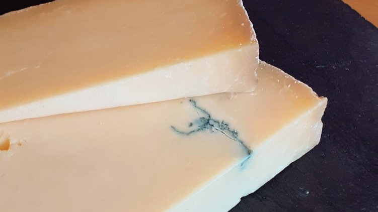 Strong Cheddar Blue Vein Clothbound Traditional Cheddar Hard English Raw Milk Cheese Unpasteurised Milk