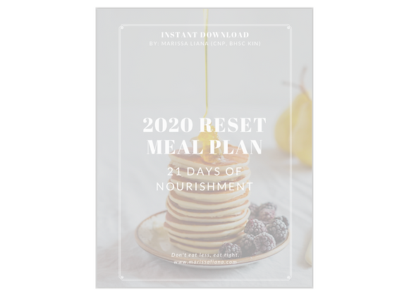 2020 Reset Meal Plan + Workouts