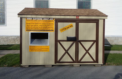 St. Pauly Clothing Donation Shed