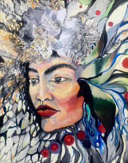 "Medeina. 16""x20"" acryli con canvas"