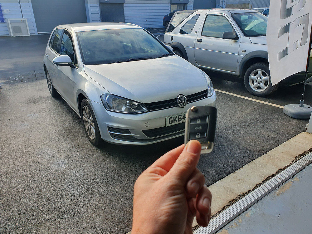 Volkswagon Golf 7 Lost Keys 1st in UK offering this service