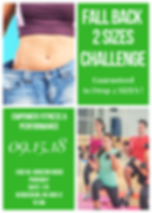 Fall Back 2 Sizes Challenge, Hendeson, gym, fitness, weight loss, lose weight, health, personal trainer