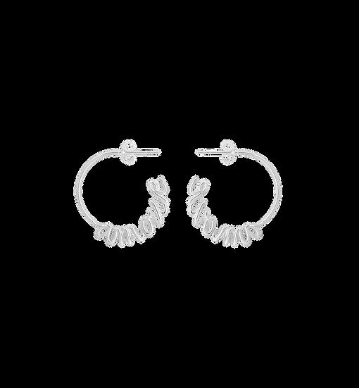 Amour Hoop Silver Earrings