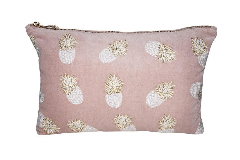 Ananas Mauve Velvet Pouch
