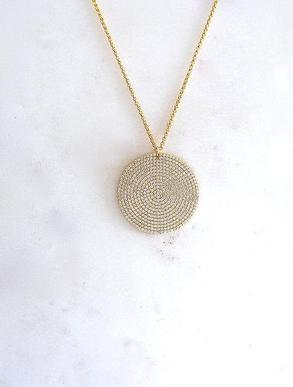 Disco Disc Necklace