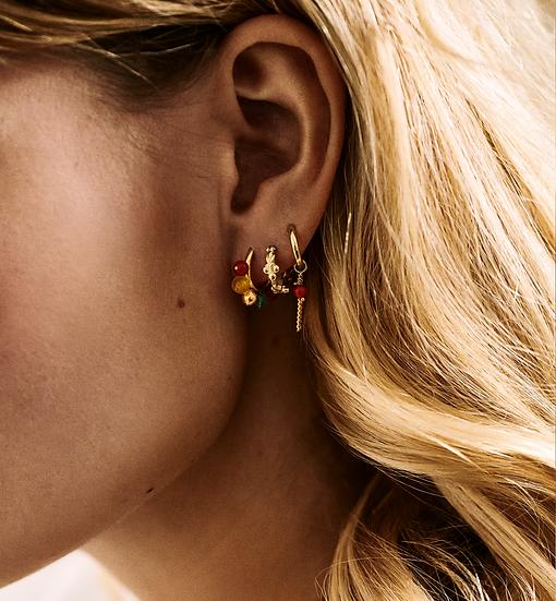 Bead Ring Earrings