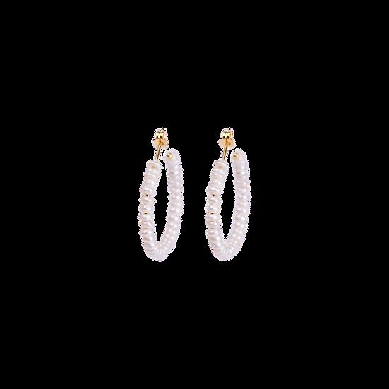 Seed Pearl Hoop Earrings