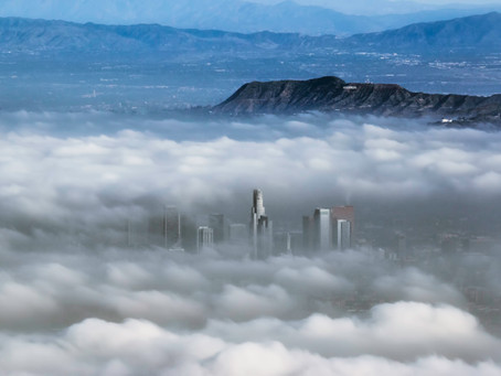 Los Angeles Skyline in the Clouds
