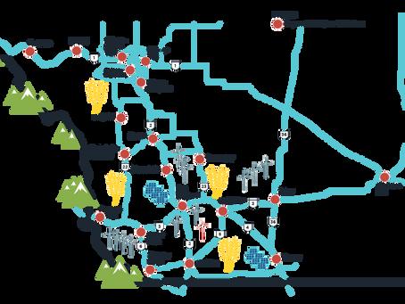 Peaks to Prairies Electric vehicle charging network