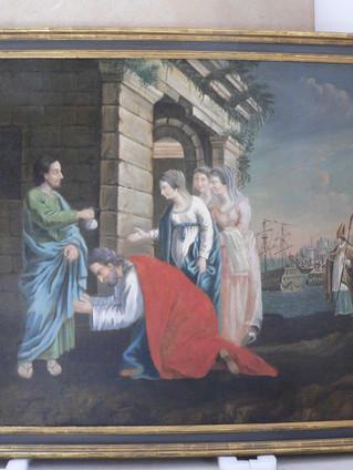 Saint-Nicolas et les trois jeunes filles, auteur inconnu, XVIIIe s.