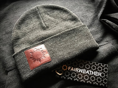 Fairweather Leather Patch Beanie