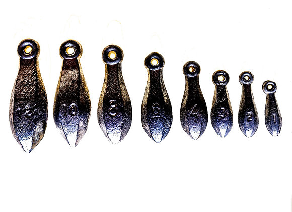 Snapper sinkers - various sizes
