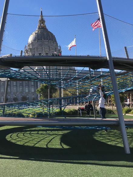 Helen Diller Civic Center Playground, Public
