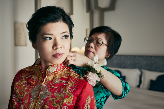 Wedding prep. LWW bride, Kitty getting ready for the traditional tea ceremony of her wedding