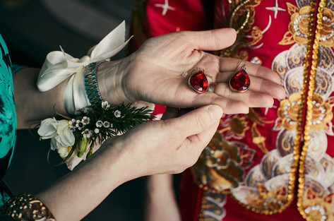 Lucky bridal red.